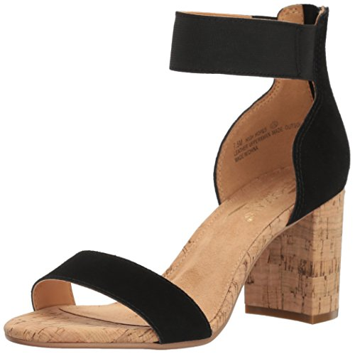 Suede Sandals Aerosoles (Aerosoles Women's High Hopes Dress Sandal, Black Combo, 9 M US)