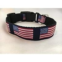 All American Dog Collar, Puppy Collar, Custom Dog Collar, Personalized Dog Collar, Preppy Collar, Patriotic Dog Collar