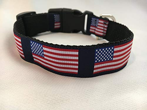 (All American Dog Collar, Puppy Collar, Custom Dog Collar, Personalized Dog Collar, Preppy Collar, Patriotic Dog Collar)