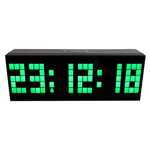 Dergo ☀Home & Garden - Kitchen Dining & Bar -Multi-Function Remote Control Luminous Digital Timer 6-bit 5 Segment LED Clock (B)