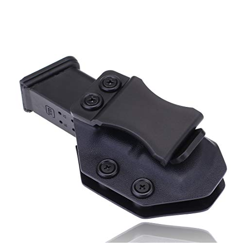 Iwb Magazine Kydex Holster Mag Carrier Pouch Holder for Glock 17 19 22 23 26 27 31 32 43 Inside The Waistband Concealed Carry 9mm Magazine Clip (Glock 17/22/31, Right Hand IWB)