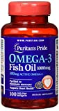 Puritans Pride Omega-3 Fish Oil 1000 Mg, 100 Count