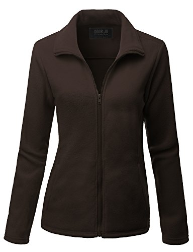 [Doublju Womens Day-to-Night Thermal 3/4 Sleeve Big Size Fleece Outwear BROWN,3XL] (Daria Costume)
