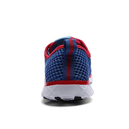 Quicksilk Frauen schnell trocknende Mesh Slip auf Wasser Schuhe Blau