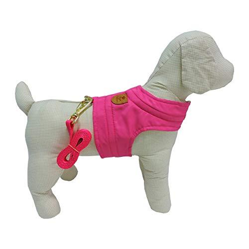 Colete Listra Bonito pra Cachorro para Cães Pink - Tamanho GG