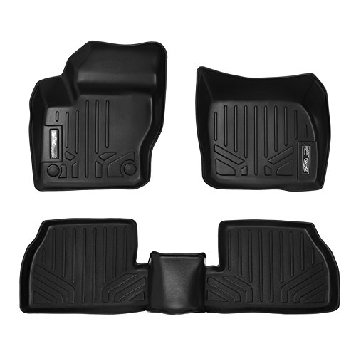 SMARTLINER Floor Mats 2 Row Liner Set Black for 2012-2018 Ford Focus (No RS Models)