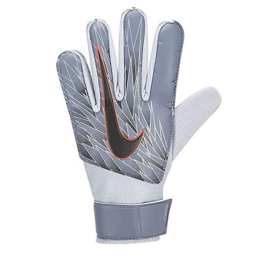 Nike Youth Match Goalkeeper Gloves (Silver/Black/Orange, 7) ()