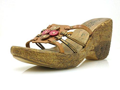 Carlo Pera Sandalias De Cuero Zapato Abierto Zapatos De Verano Calzado De Mujer 2542 Italy