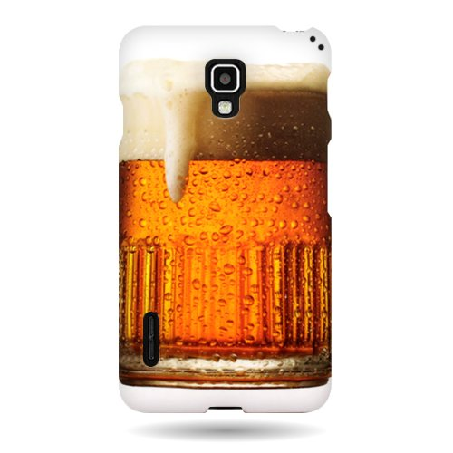 LG Optimus F7 Case, CoverON [Snap Fit Series] Hard Design Slim Protective Phone Cover Case for LG Optimus F7 - Beer Mug (Lg Optimus F7 Rubber Phone Case)