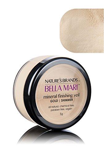 Bella Mari Natural Mineral Finishing Veil, Gold (Shimmer); 0.2oz ()