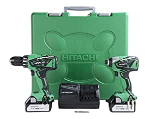 Hitachi KC18DBFL 18V Lithium Ion Brushless Hammer Drill and Impact Driver (DV18DBFL plus WH18DBFL) Combo Kit, 3.0Ah (Discontinued by manufacturer)