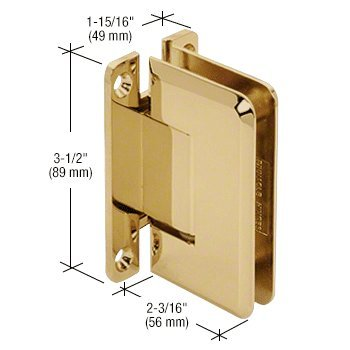 CRL Pinnacle 037 Series Brass Wall Mount Full Back Plate Standard (Pinnacle Series Wall)