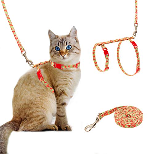 SCIROKKO Cat Harness with Leash Set