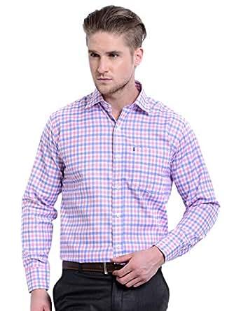 AXE Check Shirt for Men - Pink/Blue