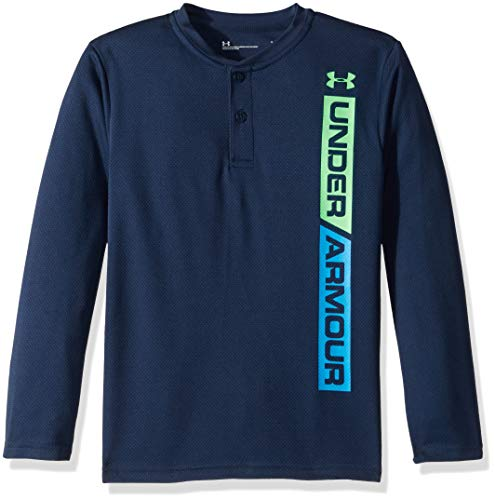 Kids Products Ringer T-shirt - Under Armour Boys' Little Long Sleeve Henley Tee Shirt, Ringer Academy, 5