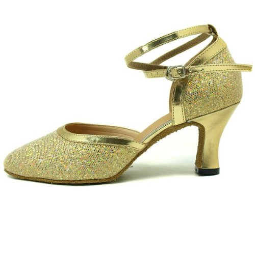Colorfulworld Water Cube Silver Gold flash lady ballroom modern Dance shoes Gold Flash yBnqK