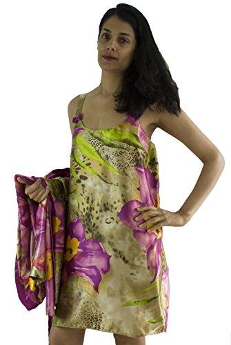 Sante Classics Women's Kimono + Chemise Tropical Delight Small