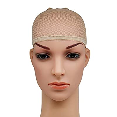 Blisstime Pack of 12 Wig Cap Open End Mesh Net Liner Weaving Cap