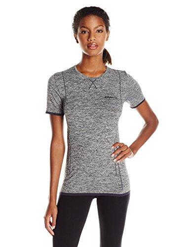 Craft Women's Active Comfort Crewneck Short Sleeve Base Layer Shirt Black Medium [並行輸入品]   B06XFW3LPY