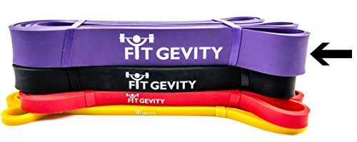 fitGevity Pull Up Bands - Exercise Band for Strength, CrossFit, Powerlifting, Bench Press, Weight Training - Durable Fitness Loop Bands (Purple; 40-80 Pounds)