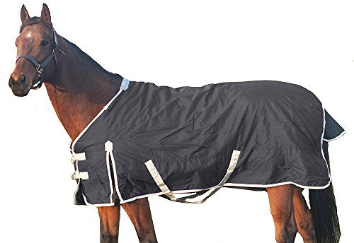 Derby Originals Deluxe 600D Nylon Turnout Winter Blanket- Horse and Pony Sizes, Black, 78