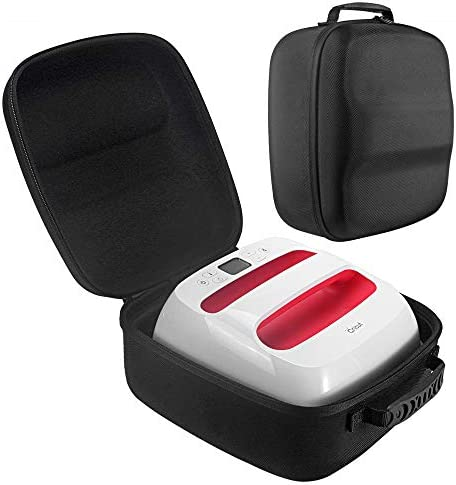 Esimen Hard Travel Case for Cricut Easy Press 2 Heat Press Machine Charging Base Accessories Carrying Bag (9 x 9 Black)