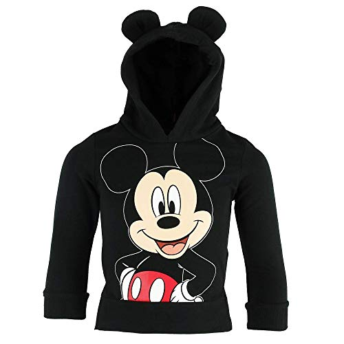 Jerry Leigh Disney Mickey Mouse Little Boys Pullover Hooded Top,Black,4T -