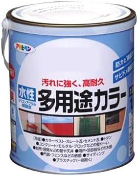 アサヒペン 水性多用途カラー 1.6L カーキー