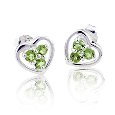 august earring products earrings deals natural stud genuine stone birthstone peridot