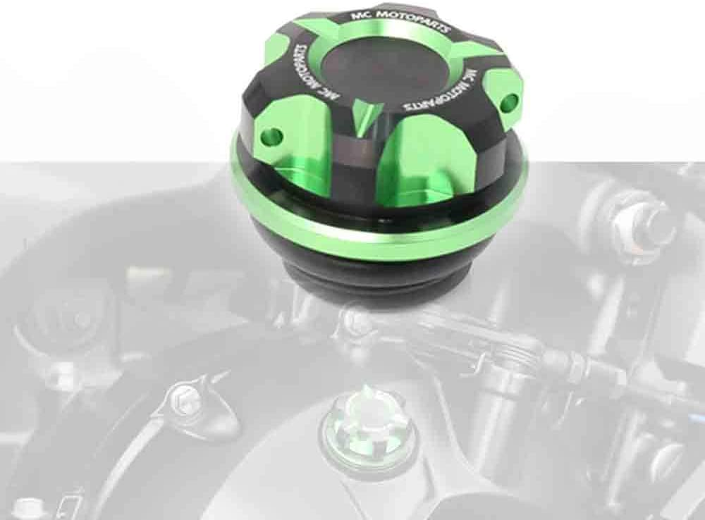 Z800 14 15 16 Z900 Z1000SX 17 18 19 MC MOTOPARTS T-Axis Green CNC Oil Filler Cap For Kawasaki Z1000 Z650 2018 2019 2020 20