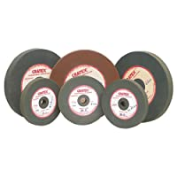 """CRATEX Rubberized Silicon Carbide Abrasive Wheel Large Straight Wheels Extra Fine - Mfr #: 408XF Diameter: 4"""" THICKNESS: 1/2"""" ARBOR HOLE: 1/2"""""""