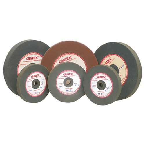 CRATEX Rubberized Silicon Carbide Abrasive Wheel Large Straight Wheels Extra Fine - Mfr #: 408XF Diameter: 4