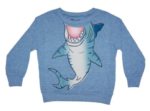 Peek A Zoo Toddler Longsleeve Become an Animal Pullover - Shark Blue - (Crackerjack Costumes)