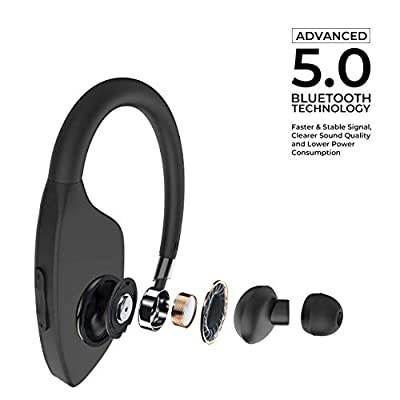 Waterproof Headphones, V5.0 HD Stereo Sound Sports Wireless in Ear Earbuds with Mic, Noise Cancelling Headsets, 9 Hours Battery for Gym Running Workout Men, Women
