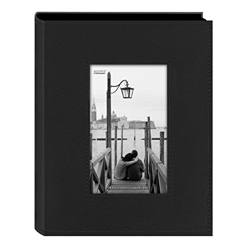 Pioneer Sewn Frame Photo Album 7''X9'' 200 Pockets-Black by Pioneer
