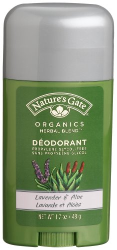 Nature's Gate: Lavender & Aloe Stick Deodorant, 1.7 oz (Pack of 4) Natures Gate Deodorant