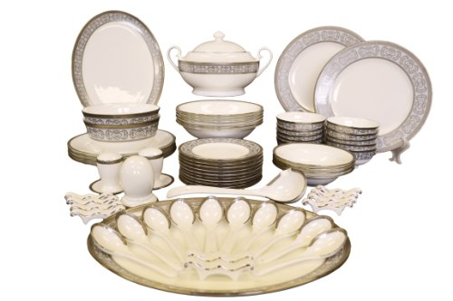 Auratic CP 06-KY125 66-Piece Chinese Dinner Set, - Set 66 Dinner Piece