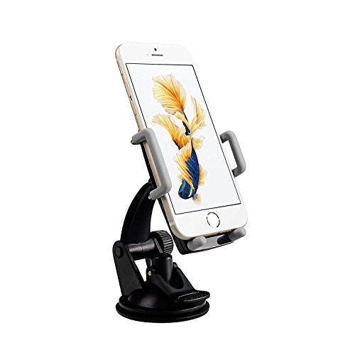 - Pawtec Smartphone Car Mount Windshield Dashboard 360 Degree Adjustable for iPhone Android