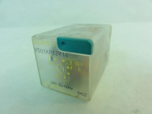 Square D 8501Kp12v14, Series D, Relay, 24V, 50/60Hz, 10A-250Vac, 8501Kp12v14 Series D