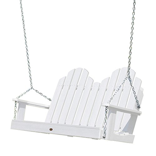 (highwood AD-SW1CW52-WHE Classic Westport Porch Swing, 4 Feet, White )