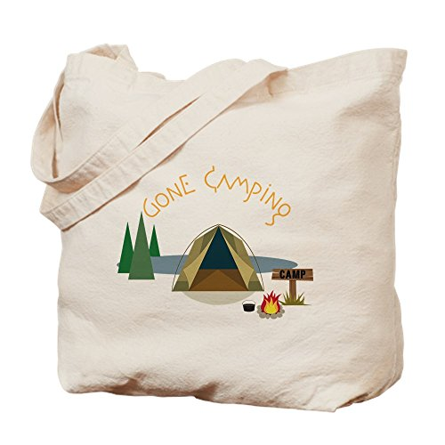 CafePress - Gone Camping - Natural Canvas Tote Bag, Cloth Sh