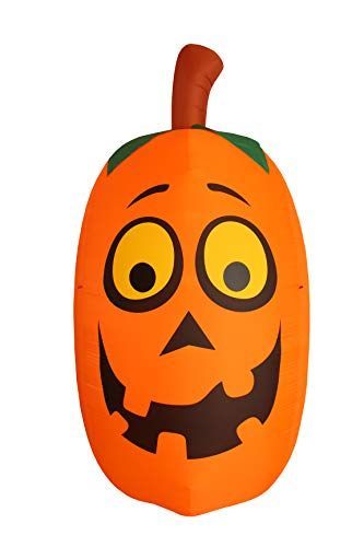 BZB Goods Jumbo Giant 10 Foot Tall Halloween Inflatable Silly Funny Cute Pumpkin Lights Lighted Blowup Party Decoration for Outdoor Indoor Home Garden Family LED Prop Yard Blow Up Lawn Decorations by BZB Goods