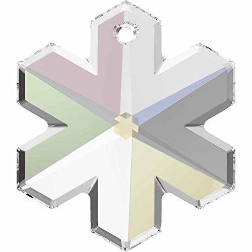 SWAROVSKI Crystal Snowflake Pendant 6704 20mm CRYSTAL AB Pack of 1 Genuine (Ab Snowflake Pendant)
