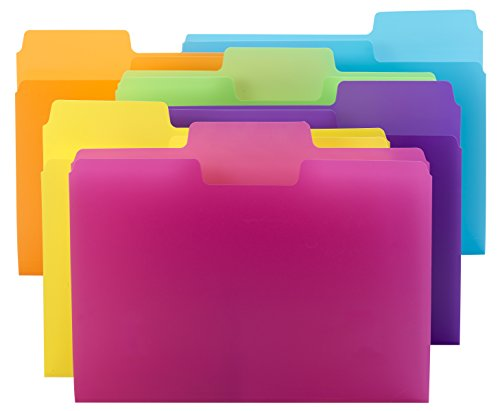 Smead SuperTab File Folder, Oversized 1/3-Cut tab, Letter Size, Poly, 18 per Pack (10515) ()