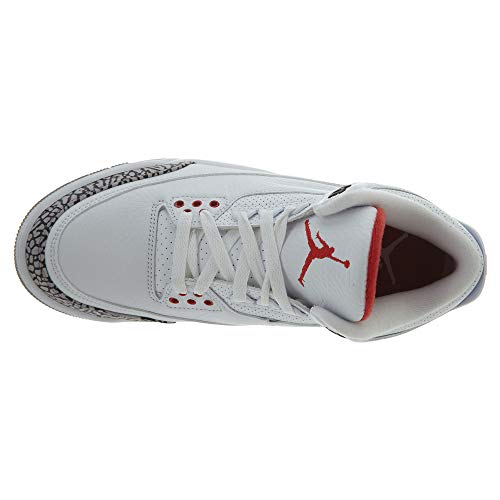 Herren Leder 44 Retro 3 Weiß Basketballschuhe Jordan NIKE Air Katrina dxA0dO