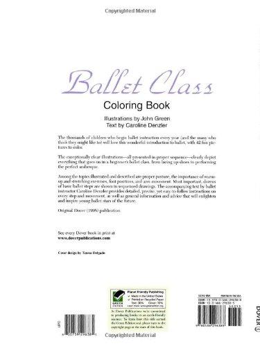 Ballet Class Coloring Book Dover Fashion Coloring Book John Green