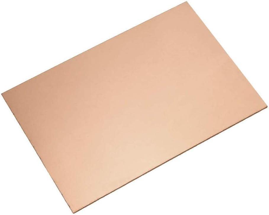 Artisanat Bricolage pour Bon conductivit/é /électrique dalimentation Thermique Industrie Conductivity,3mm,200x200mm SZQL Pure Plaque de t/ôle de cuivre