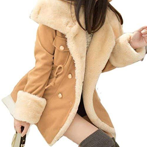 Fit Invierno Caliente Especial Khaki Estilo Mujer Outerwear Grande Manga Parkas Vellón Espesar Elegantes Chaqueta Larga Slim Fashion Invierno Talla Chaquetas fd7wCqx