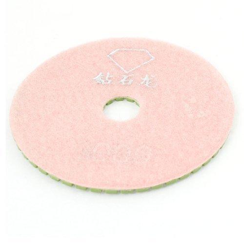 eDealMax 10cm Dia de 3,5 mm d'paisseur 2000 Grit Marbre de polissage de diamants Pad, Vert