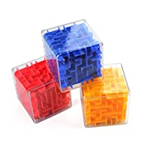 WDDH 3D Puzzles Maze Magic Box Maze Magic Cube Labyrinth Rolling Toys Puzzle Game for Kids And Adult(Random color)